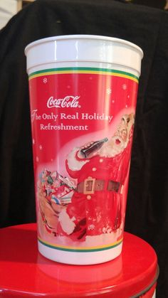 Santa plastic collector coke cup