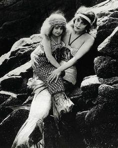 "oldhollywood:    Production still of ""Mermaid Land"" in the lost filmA Daughter of the Gods (1916, dir. Herbert Brenon) (via)"