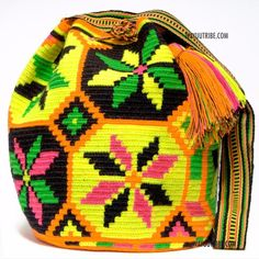 Wayuu Information for Product - Cabo Wayuu bags are intricate in their designs, Wayuu Tribe Mochila Bags are crochet by two thead, Click Here to Learn More