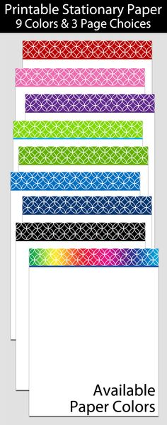 Printable Stationary Paper with a Box Outline Pattern P0124 - 85 - notebook paper download