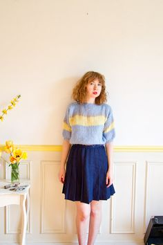 Mohair Handmade Shrunken Sweater Color by LastTangoinParis Last Tango In Paris, 1980s, Photoshoot, Crop Tops, Trending Outfits, Summer, Sweaters, Handmade, Etsy