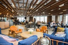 """BCG Hudson Yards office was inspired by Zappos' Tony Hsieh's enthusiasm for settings that encourage """"collisions"""" and organic meetings and collaboration."""
