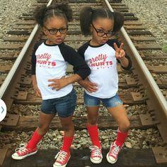@jaymee_amiyah Double Trouble, Beautiful Children, Twins, Gemini, Twin, Beautiful Kids
