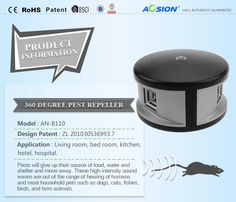 360° Pest Repeller AN-B110, give you all round protection. No harm, No pollution.