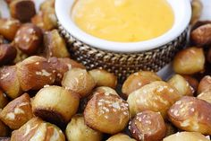 Soft Pretzel Bites - I think I may try this one.  Easier than other pretzel recipes I have seen!