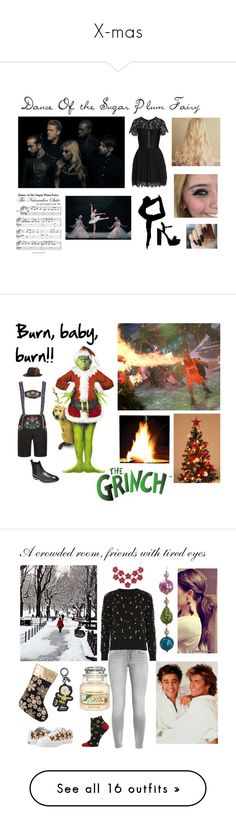 """X-mas"" by ballerinahippie on Polyvore featuring French Connection, George, Cole Haan, men's fashion, menswear, Topshop, HOT SOX, Yankee Candle, A by Amara and Gina Bacconi"
