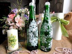 Праздничное украшение бутылок своими руками