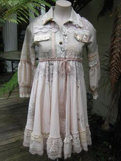 romantic STEAMPUNK upcycled coat.. Vintage by sistersroseandruby