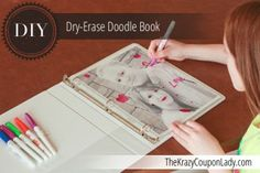 Dry-Erase Family Doodle Book...but really you could do regular white paper and let them doodle during church.