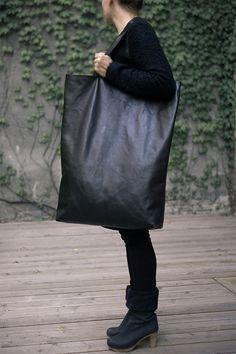 Black Oversized Giant Tote Bag