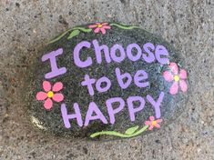 Diy painted rocks ideas with inspirational words and quotes (175)