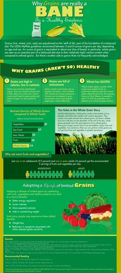 Why Grains Are Really A Bane To A Healthy Existence Infographic