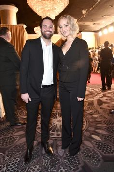 Jennifer Lawrence and her brother, Ben Lawrence attend the 88th Annual Academy Awards nominee luncheon on February 8, 2016 in Beverly Hills, California