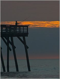 My first love of the ocean came from this place...    Myrtle Beach State Park Pier in the early morning.