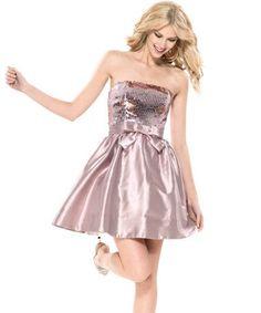 betsey johnson dresses | EVENING GEM STRAPLESS DRESS - Betsey Johnson