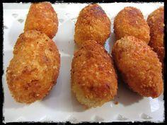 El Puchero de Morguix: Croquetas de chorizo y pollo Peruvian Recipes, Tapas, Chorizo, Muffin, Yummy Food, Cooking, Breakfast, Ethnic Recipes, Appetizer Recipes