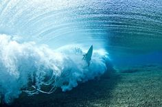 Wave under the water surf