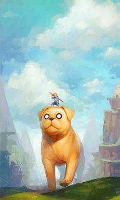 Fantastic Adventure Time fan art. I'd like to have a Jake in my life haha #adventuretime #finn #jakethedog: