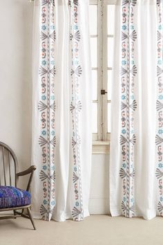 Langley Embroidered Curtain - anthropologie.com