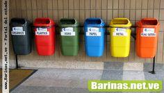 Los colores del reciclaje en Venezuela.