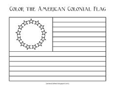 Homeschooling with a Classical Twist: Original 13 Colonies and Colonial Flag {Printable}