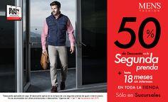 Continuamos con el #BuenFin. Adquiere la segunda prenda con el 50% OFF en sucursal.  Ubícala aquí: www.mensfashion.com.mx