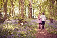 Bluebells, Boats and Beautiful Blue Skies ~ An English Countryside Engagement Shoot...