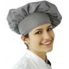 Gorro de Chef tradicional, fabricado en tejido sarga de 200 gr/m2. Composición: 65% poliéster y 35% algodón.Talla única.  Diferentes colores y estampados donde elegir. http://www.ilvo.es/2520-gorro-de-chef-tradicional.html