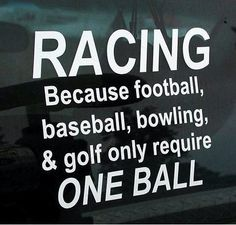 Why Racing is a TRUE sport...