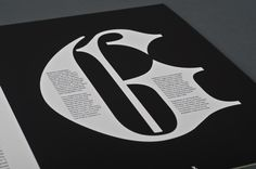Gothic Horror Text -Blackletter Font by Matt Dale, via Behance