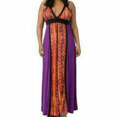 Coogi Maxi Dress Purple Orange Multicolor Maxi Dress COOGI Dresses Maxi