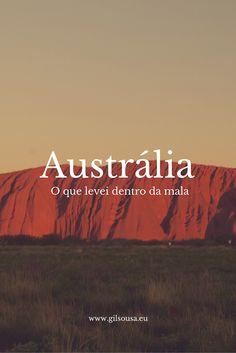 O que levei na mala para a #Austrália?