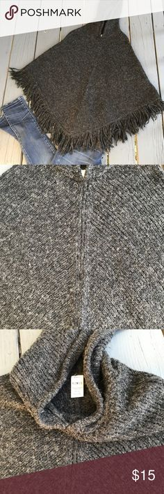 Gray color poncho. Perfect for fall. Can combine any color. Thank you for looking and sharing. Mixit Other