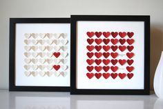 Wedding Gift Personalized 3D Song Hearts red made by SuzyShoppe
