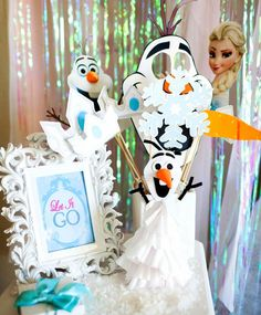 FROZEN Party Photo Props Frozen Birthday by KROWNKREATIONS, $3.99