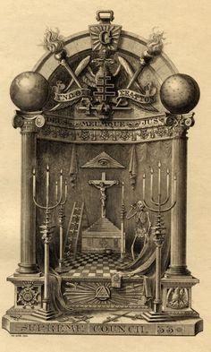 Antique Ex Libris,Supreme Council 33