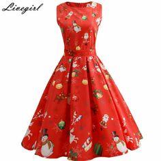 Для женщин Винтаж платье в стиле ретро с цветочным принтом рокабилли рождественское платье 1950 S Стиль Хепберн Повседневное партия Свинг с Платье с поясом Vestidos