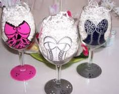 pregnant lady painted on wine glasses - Google Search