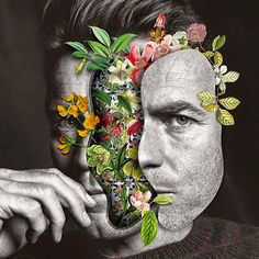 """March 2015 ☞ Illustration, Photography ☞ is a Brazilian digital collage artist based in Santa Catarina, Brazil. """"Faces I always drew attention. Art Du Collage, Collage Artists, Digital Collage, Photomontage, Art Journaling, Collages, Fashion Collage, Fashion Shoot, Face Fashion"""