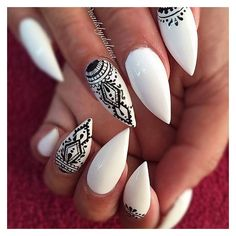 Stiletto Nails ❤ liked on Polyvore featuring beauty products, nail care, nail treatments and nails