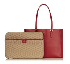 Cavendish Leather Laptop Tote with Sleeve