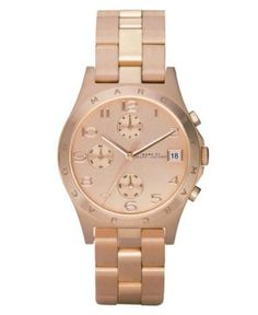 Marc by Marc Jacobs Watch, Women's Chronograph Henry Rose Gold Ion Plated Bracelet MBM3074