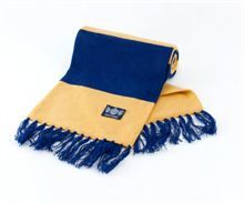 Show details for Yellow & Blue Deluxe Cashmere Bar Scarf Sweden Football, Retro Football Shirts, Uk Weather, Vintage Tops, Sportswear, Cashmere, Yellow, Bar, International Teams