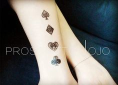 temporary tattoo red heart bridge spade playing by prosciuttojojo
