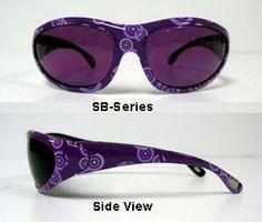 WaleWear Lampworking Glasses - SB Lenses - Purple Frames Love these! One of the few that actually fit and don't slip.