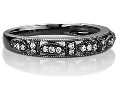 not for a wedding band w/ my e-ring...... but it's pretty friggin cool. have never seen black rhodium