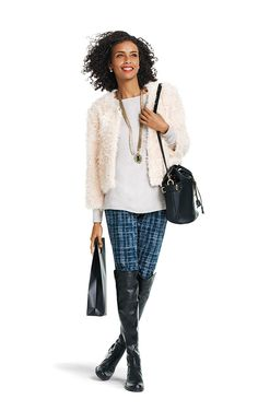 "Cabi's ""Furry Furry"" is a cozy statement jacket that can take you from day to night with style."