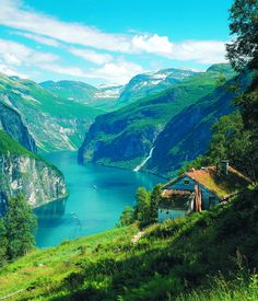 Nature Photo: Norway | Seeking GreenerGeirangerfjord, Norway. Photo credit: Hurtigruten.  Along Norway's Coast, Hurtigruten, aka Coastal Voyage, sails year-round.