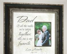 Unique Wedding Day Gifts for Dad from Bride Thank You Gift For Parents, Wedding Gifts For Parents, Wedding Thank You Gifts, Bride Gifts, Gifts For Dad, Mother Of The Groom Gifts, Father Of The Bride, Wedding Quotes, Wedding Signs