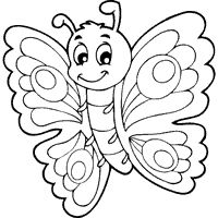 cute butterfly colouring pages - Google Search